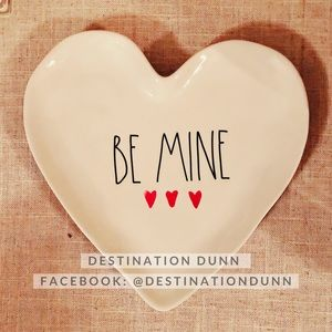 Rae Dunn BE MINE Watercolors Heart Plate